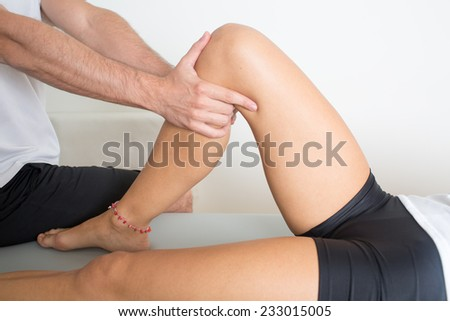 knee treatment - stock photo