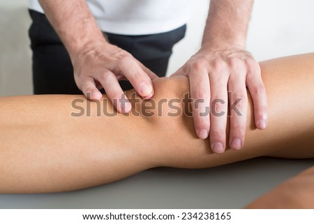 knee treatment - stock photo