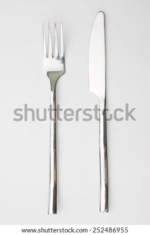 knife and fork - stock photo
