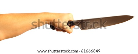 knife attack - stock photo