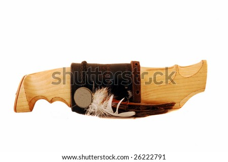 knife, isolated in white - stock photo