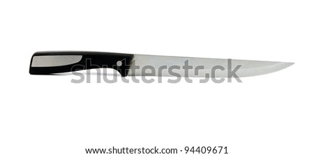 knife on a white background - stock photo