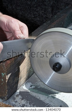 Knife Sharpener - stock photo