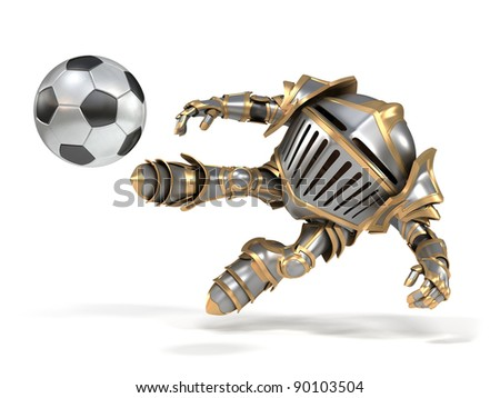 Knight footballer - stock photo