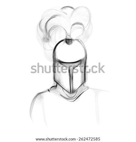 knight, medieval - stock photo