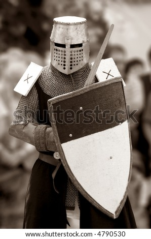 knight of Middle century. - stock photo