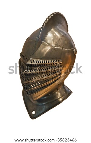 Knight's armor isolated on white - stock photo