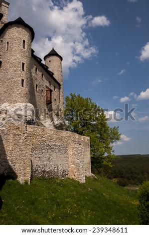 knight's castle in Bobolice, Poland  - stock photo