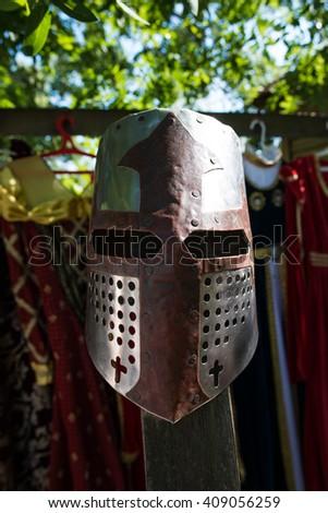 knight's helmet - stock photo