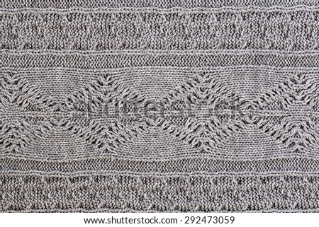 Knit grey sweater texture background.  - stock photo