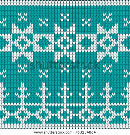 Knitted Christmas Knitted Pattern Decoration Advertising Stock