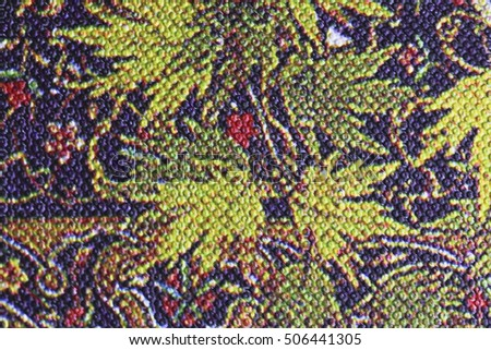 Knitted pattern, color fabric texture