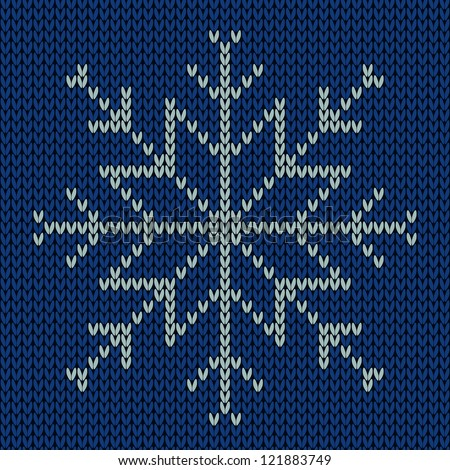 Knitting Snowflake Pattern : Stock Photos, Royalty-Free Images & Vectors - Shutterstock