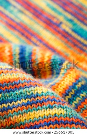 Knitted texture  - stock photo