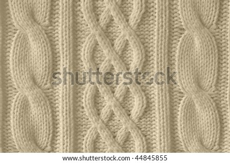 Knitted woolen background - stock photo