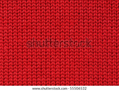 Knitted woolen fabric background - stock photo