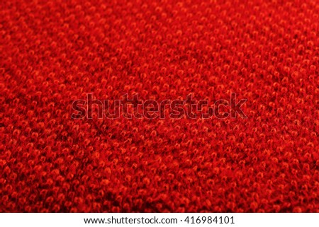Knitted woolen fabric background, close up - stock photo