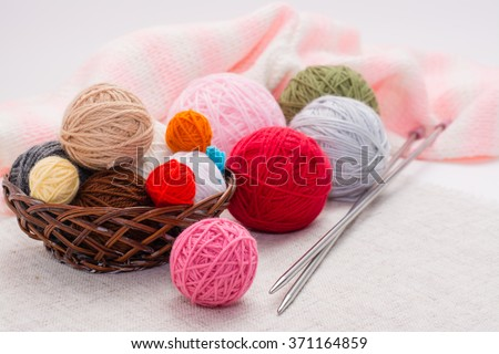 Knitting and needles