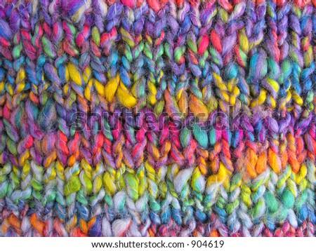 Knitting backround - stock photo