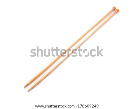 knitting needles   - stock photo