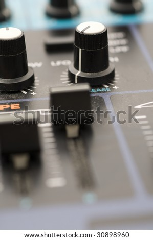 Knobs  and Sliders on Sound Syntheziser