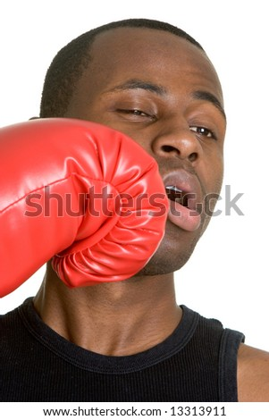 Knock Out Man - stock photo
