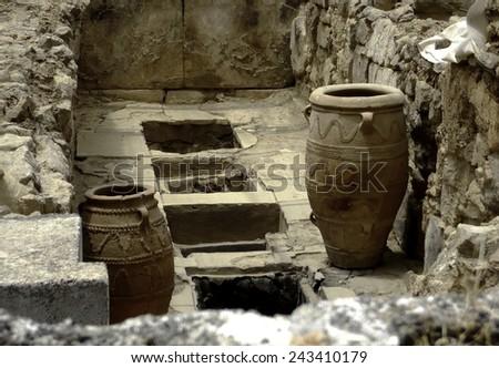 Knossos palace - stock photo