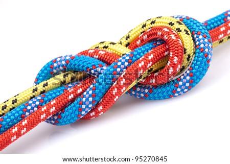 knot, climbing gear - stock photo