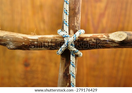 knot Constrictor Knot (Twisting Method) - stock photo