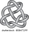 Knot Illustration (Vector version also available) - stock photo