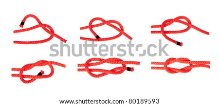 knot series : thief knot for scout army sailor student and education or printing - stock photo