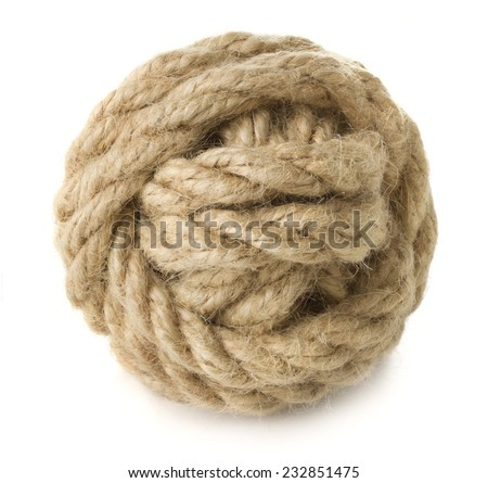 Knotted rope - stock photo