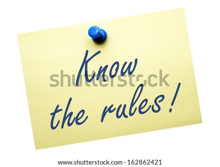 Know the rules ! - stock photo