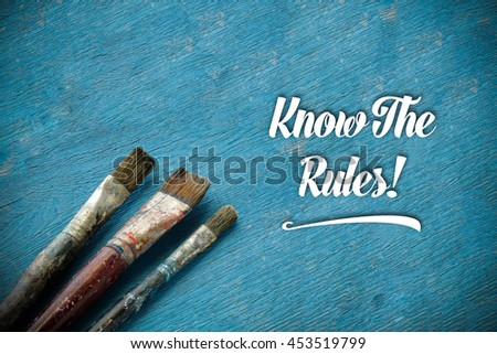 Know The Rules!. - stock photo