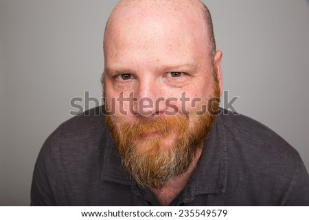knowing smile - stock photo