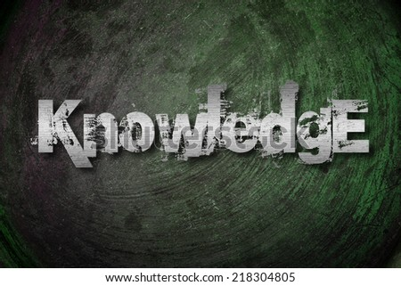Knowledge Concept text on background - stock photo