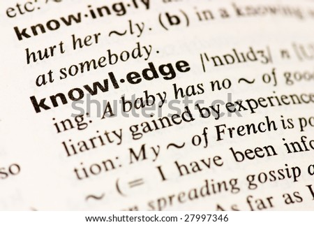 knowledge dictionary word - stock photo