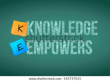 knowledge empowers business concept illustration design graphic - stock photo