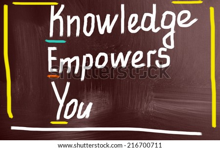 knowledge empowers you concept - stock photo