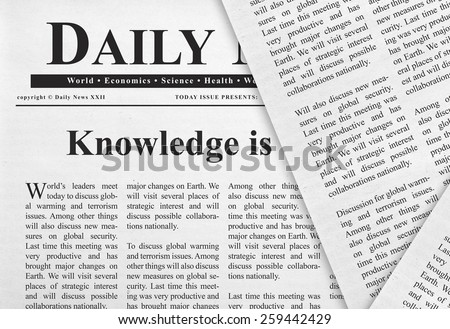 Knowledge headline - stock photo