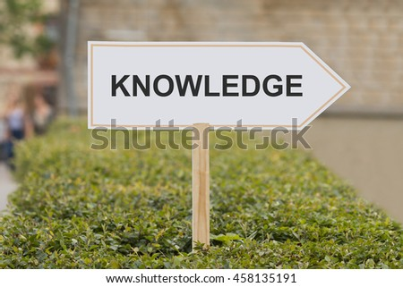 knowledge signpost - stock photo