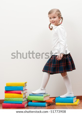 Knowledge steps - stock photo