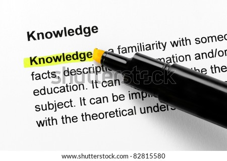 Knowledge text highlighted in yellow, under the same heading