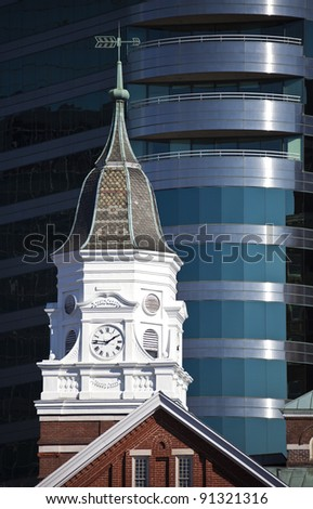 Knoxville architecture - old and new buildings - stock photo