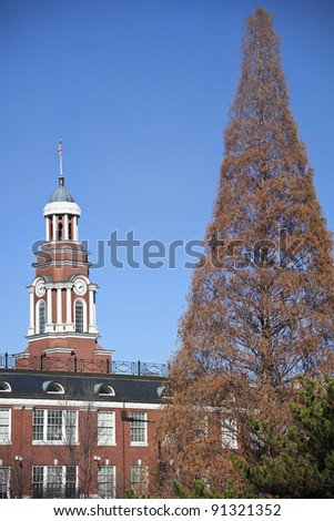 Knoxville courthouse in the autumn scenery - stock photo