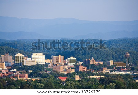 Knoxville skyline. - stock photo