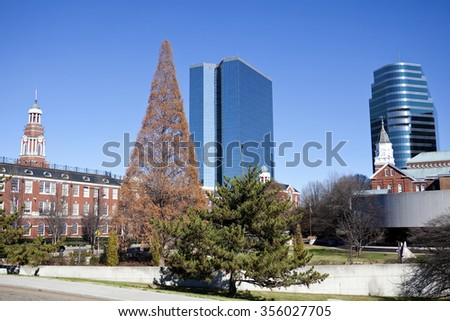 Knoxville, Tennessee - morning in the center of the city - stock photo