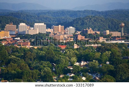 Knoxville, Tennessee skyline. - stock photo
