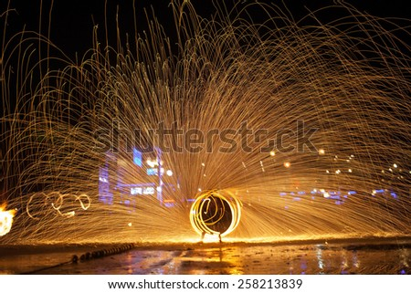 Ko-Samet in thailand nightlife at the beach - stock photo