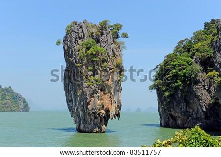 Ko Tapu, Phang Nga, Thailand - stock photo